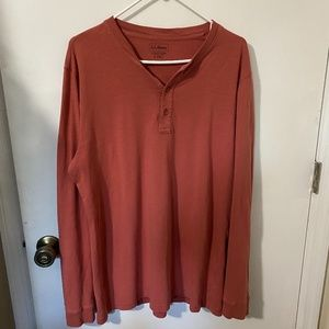 L. L. Bean Slightly Fitted Henley Shirt size L